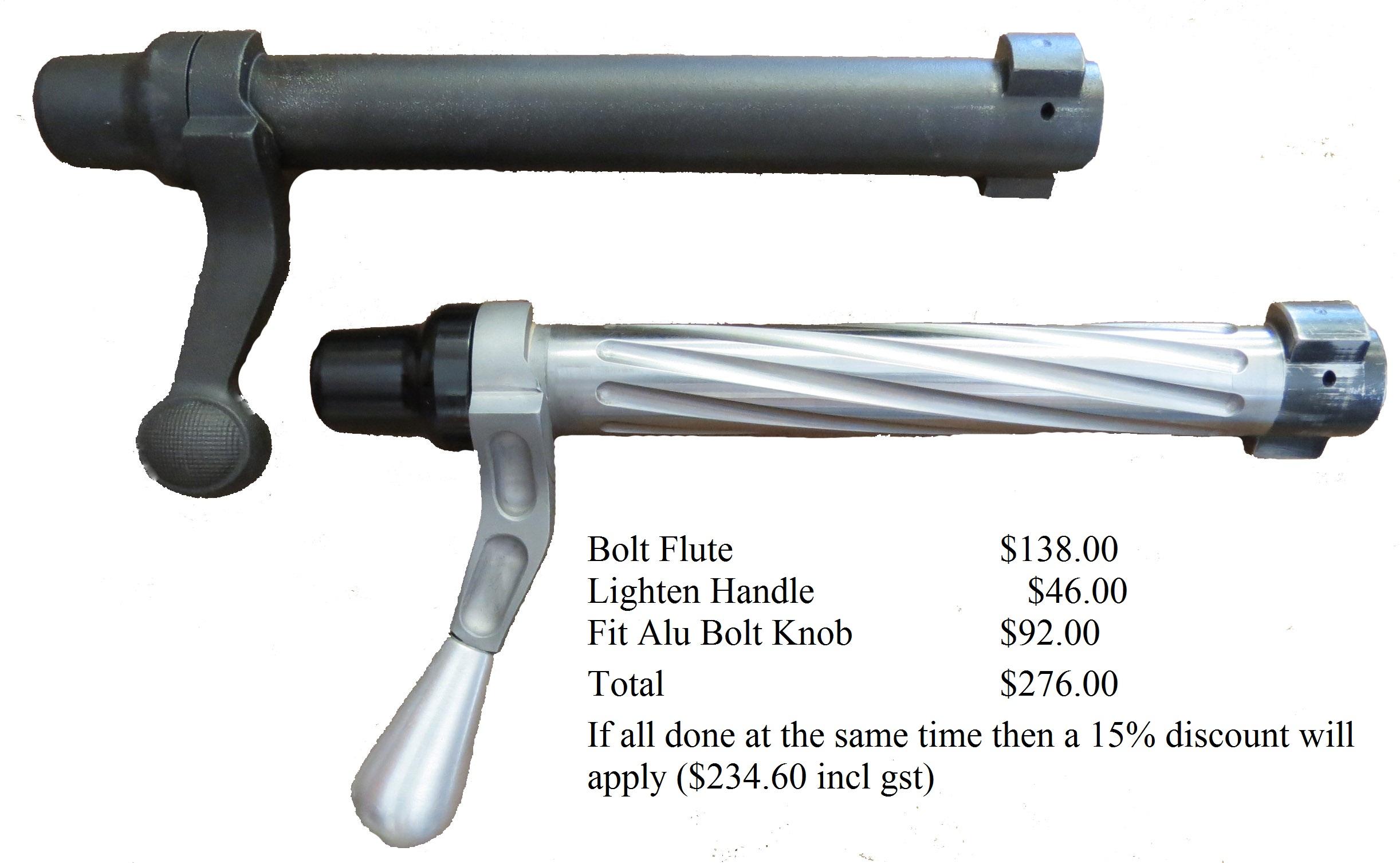 Gunworks Ltd - Bolt Fluting